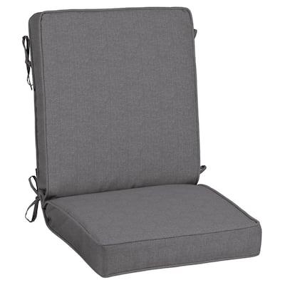 21 x 44 Sunbrella Cast Slate Outdoor Dining Chair Cushion
