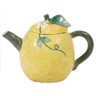 24 oz. Citron 3-D Multi-Colored Lemon Teapot