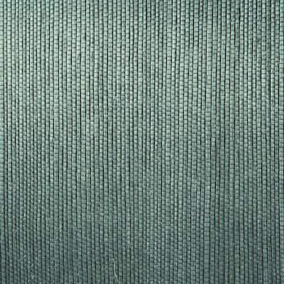 Thanos Teal Grasscloth Teal Wallpaper Sample