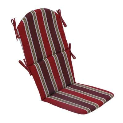 22 in. x 46 in. x 2 in. Chili Stripe Outdoor Adirondack Chair Cushion