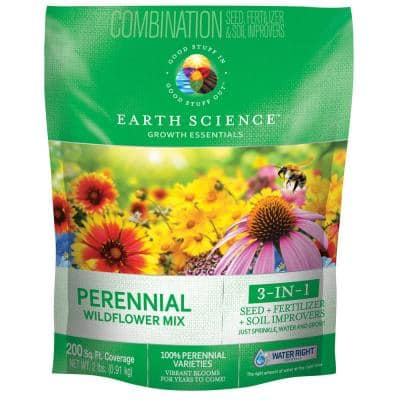 2 lbs. Perennial All-In-One Wild Flower Mix with Seed, Plant Food and Soil Conditioners