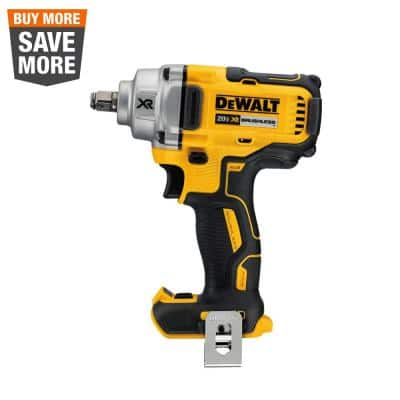 20-Volt MAX XR Cordless Brushless 1/2 in. Mid-Range Impact Wrench with Hog Ring Anvil (Tool-Only)