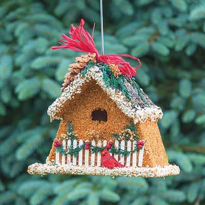 9 in. Tall Birdseed Chalet Birdhouse