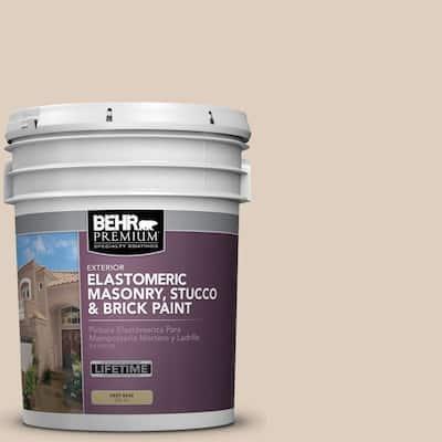 5 gal. #MS-21 Spanish Tan Elastomeric Masonry, Stucco and Brick Exterior Paint