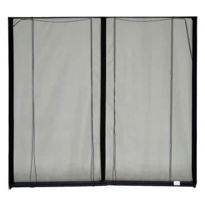 16 ft. x 7 ft. Roll-Up Garage Door Screen, 3 Zippers, with Vinyl Rod Pocket (Includes Rope and Pull Kit)