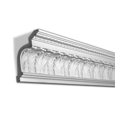 6-15/16 in. x 5-1/4 in. x 96 in. Acanthus and Lambs Tongue Polyurethane Crown Moulding Pro Pack 16 LF (2-Pack)