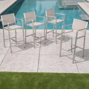 Cape Coral Stackable Aluminum Outdoor Bar Stool (4-Pack)