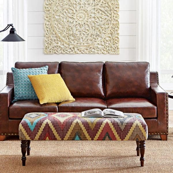 Brown Faux Leather 3 Seater Sofa, Paint For Leather Furniture Home Depot