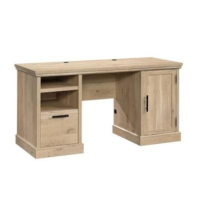Aspen Post 59.055 in. W Prime Oak Computer Desk with Cord Management