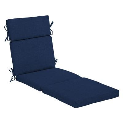 22 in. x 25 in. Outdoor Chaise Lounge Cushion in Sapphire Leala Texture