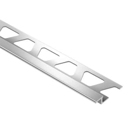Reno-TK Bright Chrome Anodized Aluminum 1/4 in. x 8 ft. 2-1/2 in. Metal Reducer Tile Edging Trim