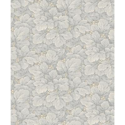 Waldemar Grey Foliage Paper Strippable Wallpaper (Covers 57.8 sq. ft.)