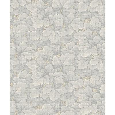 Waldemar Grey Foliage Grey Wallpaper Sample