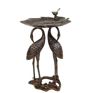 2 Crane Lily Bird Bath