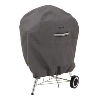 Ravenna 43 in. H x 30 in. Dia Kettle BBQ Grill Cover in Dark Taupe