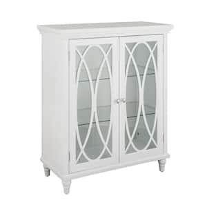 Florence 26 in. W x 12-1/2 in. D x 32 in. H Double Door Floor Cabinet in White