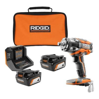 18V OCTANE Brushless Cordless 1/2 in. Impact Wrench w/Belt Clip, (2) 4.0 Ah Batteries, Charger, Bag