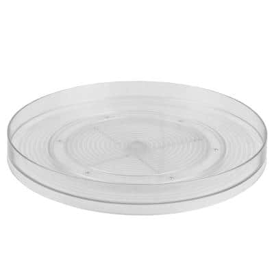 Smooth Spin Non-Skid Clear Plastic Turntable
