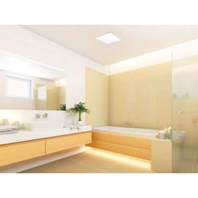 100 CFM Integrity Bathroom Exhaust Fan with Edge-Lit Dimmable LED Light