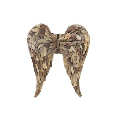 Driftwood Angel Wings Wall Sculpture