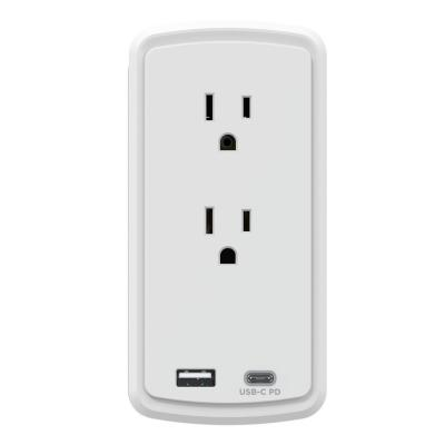 2-Outlet Surge Protector USB-A USB-C Wall Tap