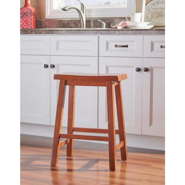 Powell Company 24 In Honey Brown Bar Stool 455 430 The Home Depot