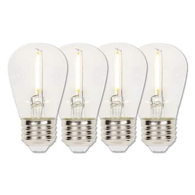 15-Watt Equivalent S14 Clear LED Light Bulb Soft White (4-Pack)