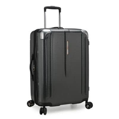 New London II 26 in. Gray Hardside Expandable Spinner Luggage