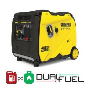 4650-Watt Electric Start Portable Gas and Propane Dual Fuel Inverter Generator with Ultra-Quiet Technology
