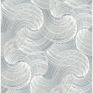 Karson Slate Swirling Geometric Slate Wallpaper Sample
