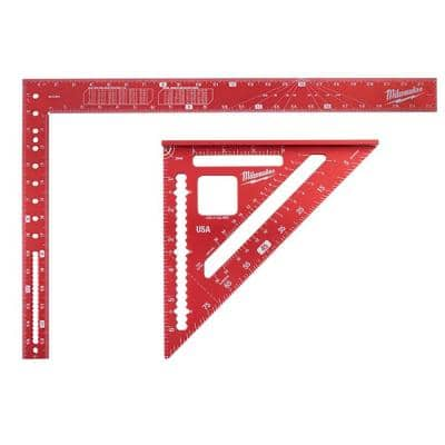 16 in. x 24 in. Aluminum Framing Square with 7 in. Rafter Square