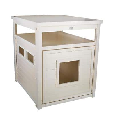ECOFLEX® Jumbo Litter Box Cover End Table in Antique White