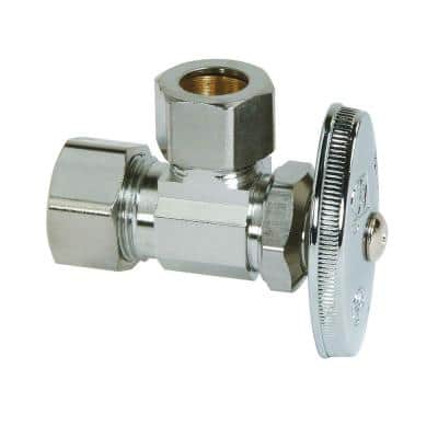 1/2 in. Compression Inlet x 1/2 in. Compression Outlet Multi-Turn Angle Valve
