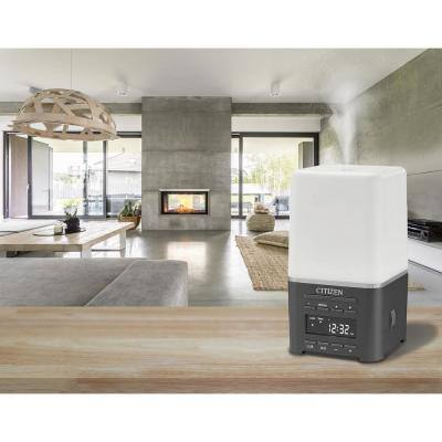SensoryTime aromatherapy alarm clock with Bluetooth, grey and white