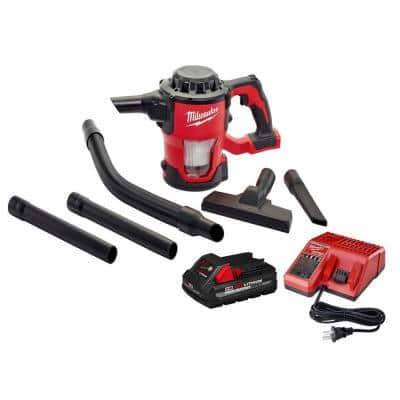 M18 18-Volt Lithium-Ion Cordless Compact Vacuum W/ 3.0Ah Battery and Charger