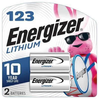 123 Lithium Batteries (2 Pack), 3V Photo Batteries