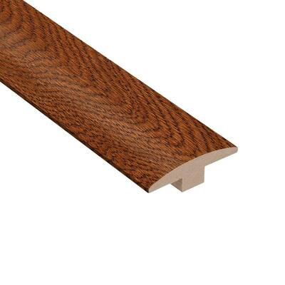 Gunstock Oak 3/8 in. Thick x 2 in. Wide x 78 in. Length T-Molding