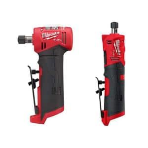 M12 FUEL 12-Volt Lithium-Ion Brushless Cordless 1/4 in. Right Angle and Straight Die Grinder Kit (Tool-Only Kit)