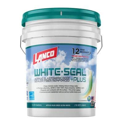 5 Gal. White-Seal Plus 100% Acrylic Elastomeric Reflective Roof Coating with High UV-Ray Reflectance
