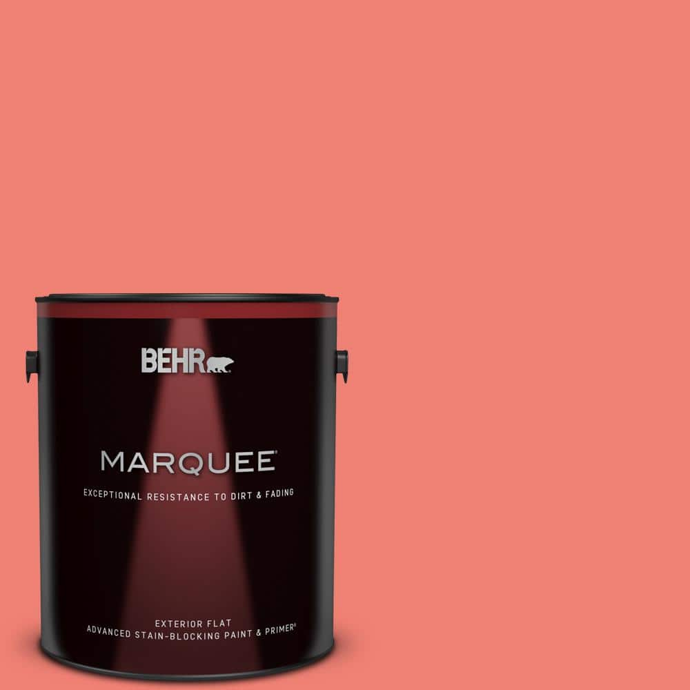 Behr Marquee 1 Gal 170b 5 Youthful Coral Flat Exterior Paint Primer 445301 The Home Depot