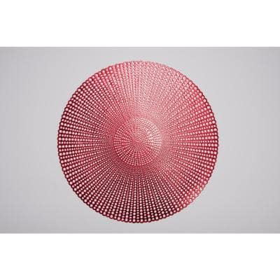 Brocade Red 100% Eco Friendly Vinyl Placemat (Set of 4)