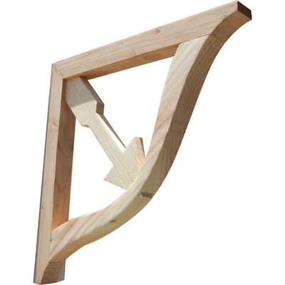 Cupid's Arrow 16 in. x 1.6 in. x 16 in. Designer Wood Corbel (2-Pack)