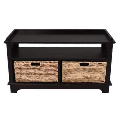Shelly Black Wood Cabinet with a Drawer