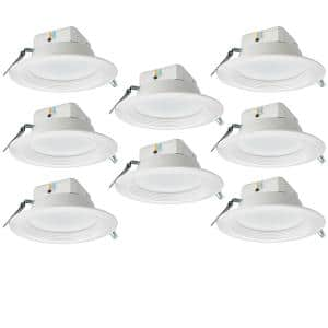 8 in. Canless New Construction Remodel High Output 3000 Lumens Selectable Integrated LED Recessed Trim Light (8-Pack)