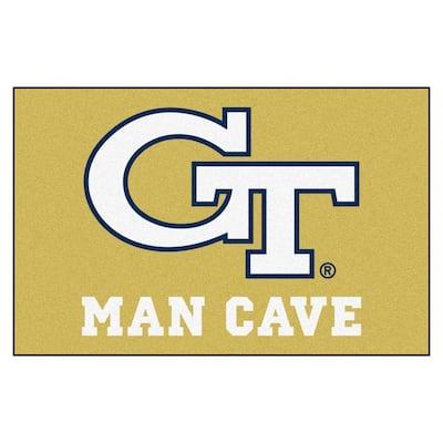 Georgia Tech Gold Man Cave 2 ft. x 3 ft. Area Rug