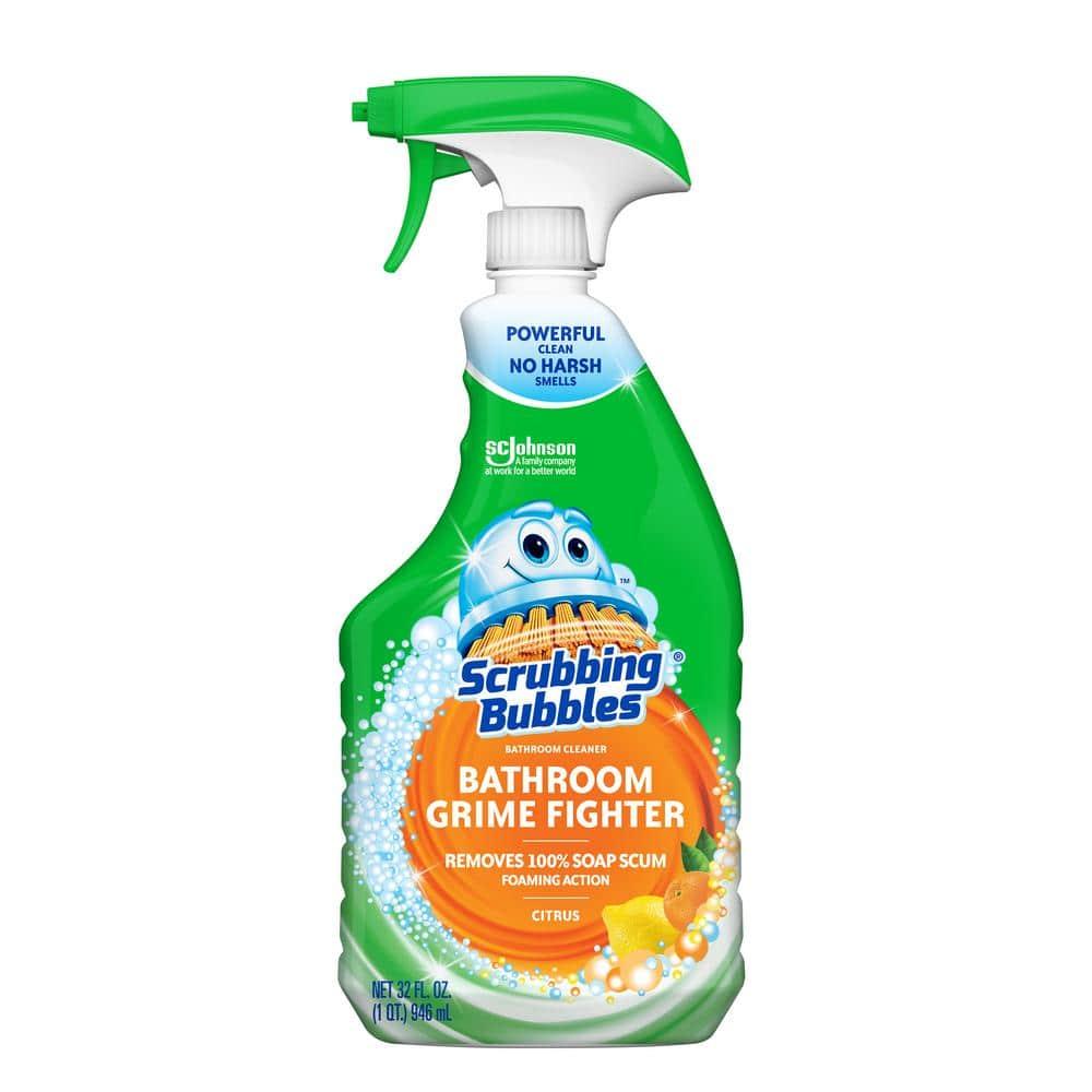 Scrubbing Bubbles 32 Fl Oz Citrus Bathroom Grime Fighter 308469 The Home Depot