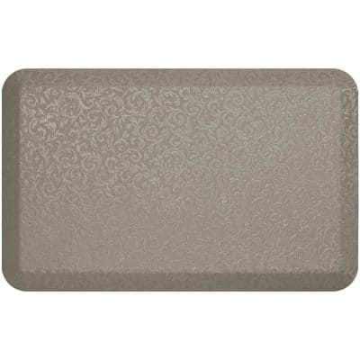 NewLife Stone Finish 20 in. x 32 in. Polyurethane Foam Embossed Vine Professional Grade Anti-Fatigue Comfort Mat
