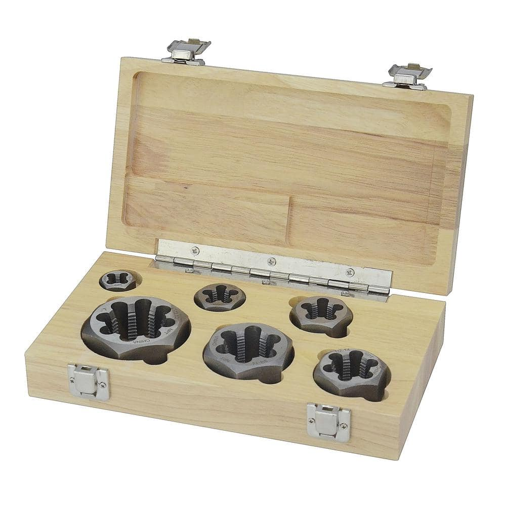"""3//8/"""" x 40 TPI HIGH CARBON STEEL TAPS AND DIE PLASTIC BOXED"""