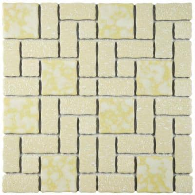 Academy Gold 12 in. x 12 in. Porcelain Mosaic Tile (9.79 sq. ft. / Case)