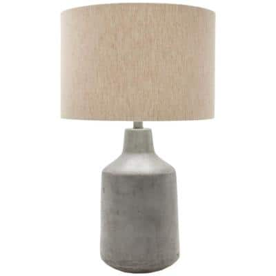 Jasiah 25 in. Medium Gray Indoor Table Lamp